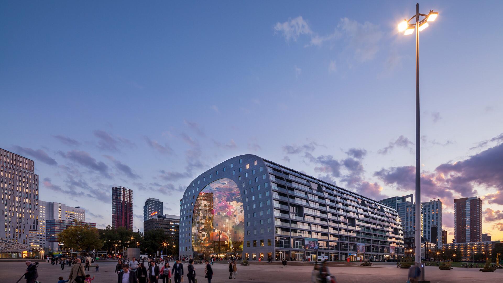 Markthal, Rotterdam, the Netherlands, MVRDV, Pennings Akoestiek, Daria Scagliola, Stijn Brakkee, ROCKFON Mono Acoustic, Dark grey